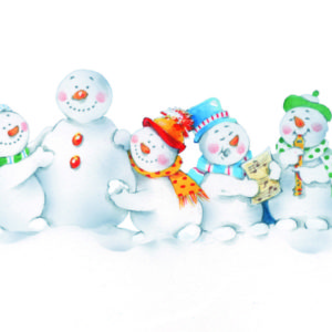 Jolly Snowman Christmas cards