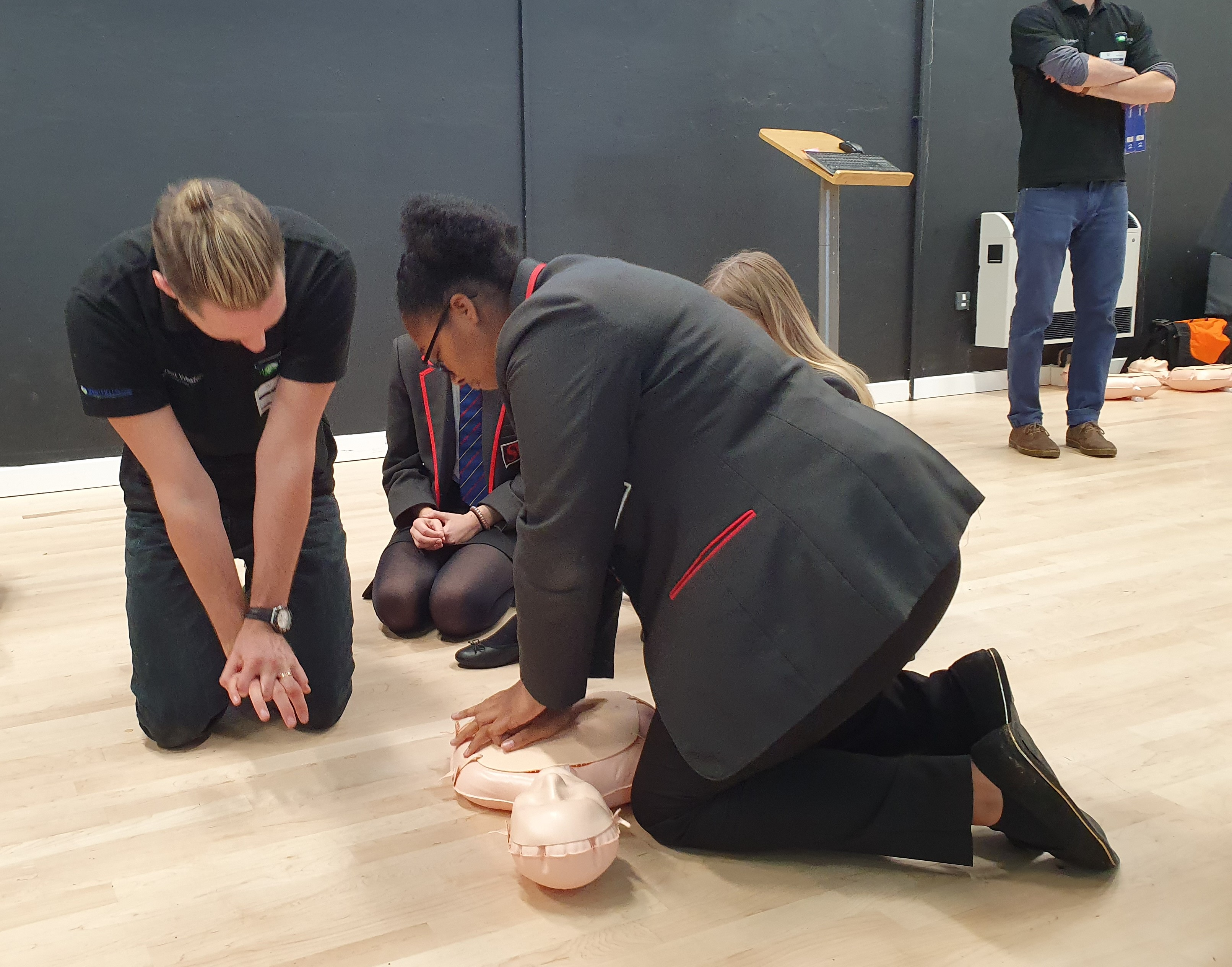 Learning CPR skills 2