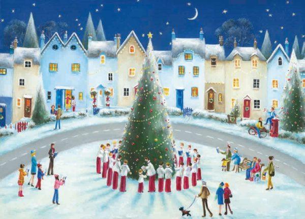 Around the tree Christmas Card