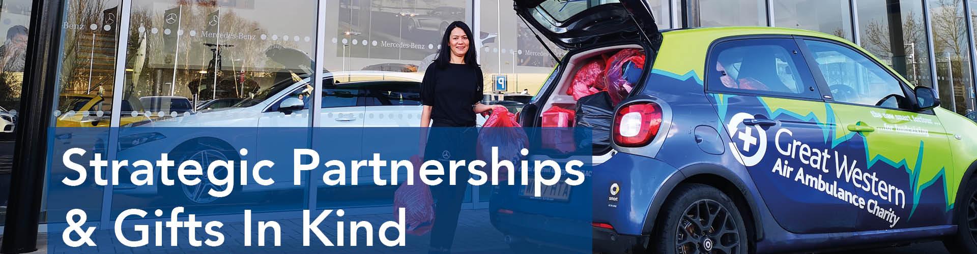 Strategic Partnerships & Gifts In Kind website banner